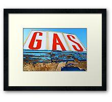 GAS! Framed Print
