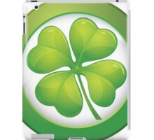 Saint Patrick's Day, Four Leaf Clovers iPad Case/Skin