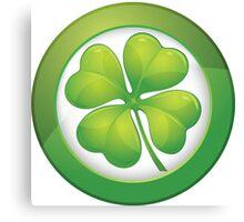 Saint Patrick's Day, Four Leaf Clovers Canvas Print