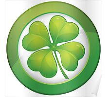 Saint Patrick's Day, Four Leaf Clovers Poster