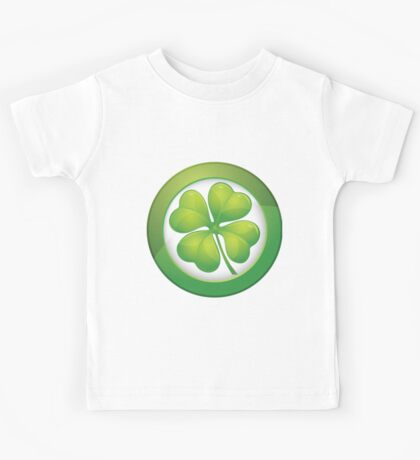 Saint Patrick's Day, Four Leaf Clovers Kids Tee