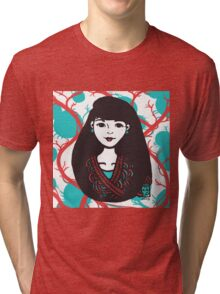 Inky Asian Tri-blend T-Shirt