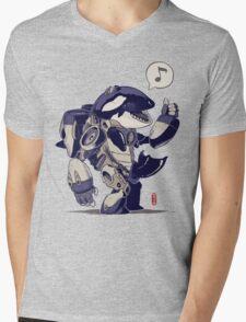 Cyb-Orca Mens V-Neck T-Shirt