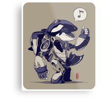 Cyb-Orca Metal Print