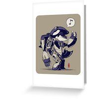 Cyb-Orca Greeting Card