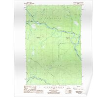 Maine USGS Historical Map Eastman Brook 105105 1986 24000 Poster