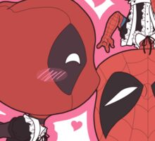Spiderman Deadpool Valentine Sticker