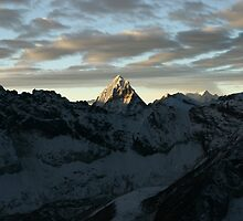 Dawn from Island Peak, Nepal by opensea