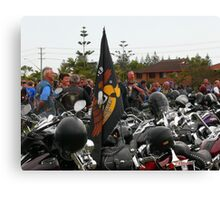 Saddle Bags and Helmets Canvas Print
