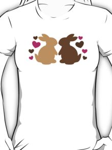 Chocolate bunnies in love T-Shirt