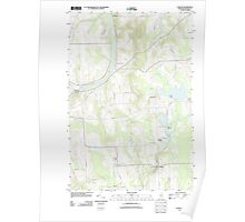 Maine USGS Historical Map Easton 20110907 TM Poster