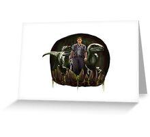 Chris Pratt - Dinosaur Trainer Greeting Card
