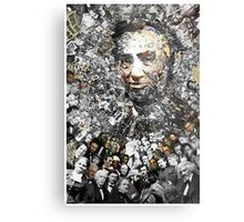 "Title: ""Rendering Myself Worthy"" Abe Lincoln, Slavery, Civil War Meta Collage Metal Print"