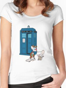 Gee Doctor What Are We Going To Do Tonight? (classic) Women's Fitted Scoop T-Shirt