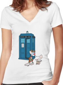 Gee Doctor What Are We Going To Do Tonight? (classic) Women's Fitted V-Neck T-Shirt