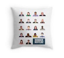 Dunder Mifflin Rolecall! Throw Pillow