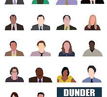 Dunder Mifflin Rolecall! by getonthisgfx
