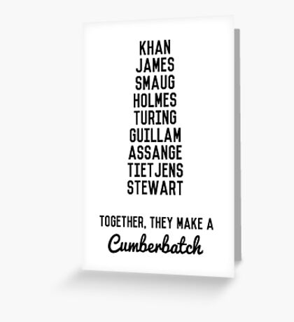 Together, They Make A Cumberbatch Greeting Card