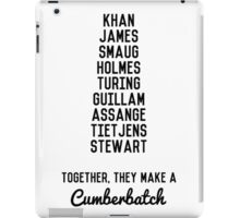 Together, They Make A Cumberbatch iPad Case/Skin