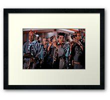 The flute player; Oeshiki Matsuri, Tokyo, Japan Framed Print