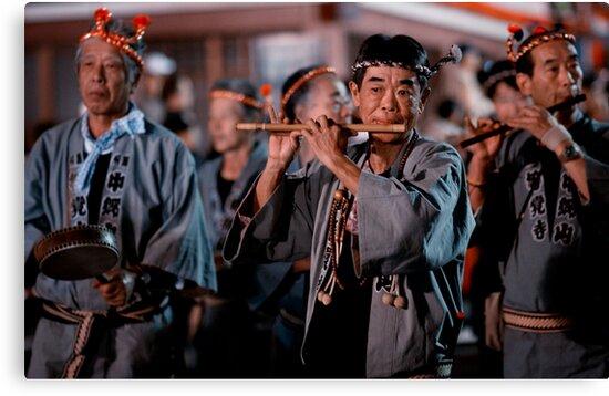 The flute player; Oeshiki Matsuri, Tokyo, Japan by Alfie Goodrich