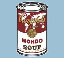 """""""Mondo Red"""" Warhol inspired Campbell's soup.  Kids Tee"""