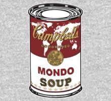 """Mondo Red"" Warhol inspired Campbell's soup.  by O O"