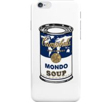 """Mondo Blue"", Warhol inspired Campbell's soup can iPhone Case/Skin"