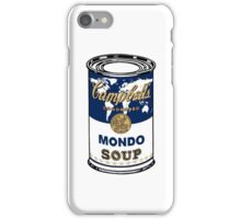 """""""Mondo Blue"""", Warhol inspired Campbell's soup can iPhone Case/Skin"""