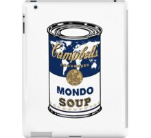 """Mondo Blue"", Warhol inspired Campbell's soup can iPad Case/Skin"