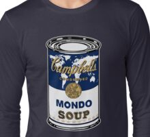 """Mondo Blue"", Warhol inspired Campbell's soup can Long Sleeve T-Shirt"