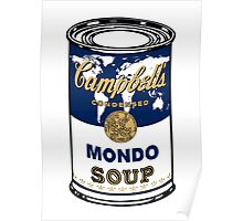 """Mondo Blue"", Warhol inspired Campbell's soup can Poster"