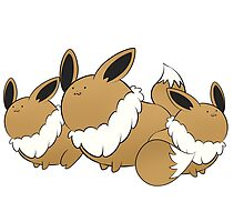 Fat Eevee Family by Uluri