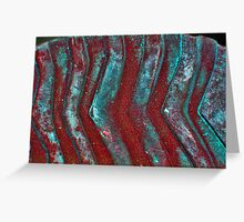 vertical waves Greeting Card
