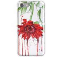 Red Gerbera iPhone Case/Skin
