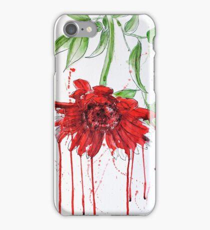 Red Gerbera iPhone Case/Skin