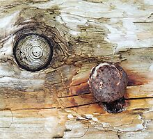 Old Wood And Rust Abstract by Alexandra Lavizzari
