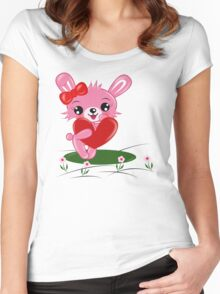 Bunny Love Women's Fitted Scoop T-Shirt