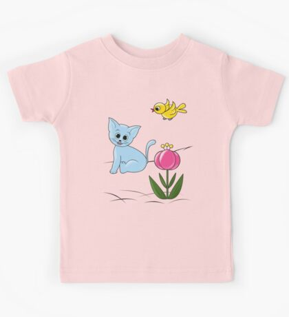 Smiling Cat Kids Tee