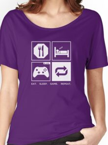 Eat. Sleep. Game. Repeat. Women's Relaxed Fit T-Shirt