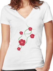 Sweet Wiggle Women's Fitted V-Neck T-Shirt
