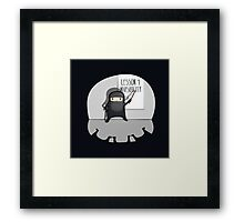 The First lesson of a ninja is... Framed Print