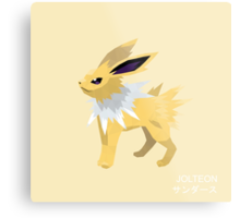 Jolteon Low Poly Metal Print