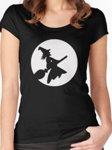 Witch To The Moon Women's Fitted Scoop T-Shirt