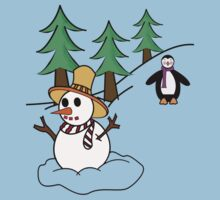 Snow man Kids Tee