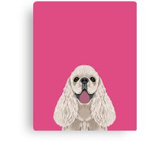 Harper - Cocker Spaniel phone case gifts for dog people dog lovers presents Canvas Print