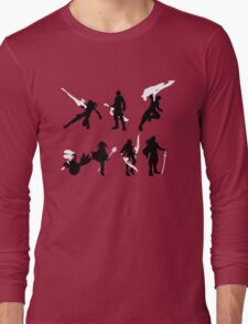 Xenoblade party silhouette (ver. 2) Long Sleeve T-Shirt