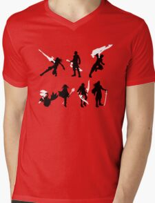 Xenoblade party silhouette (ver. 2) Mens V-Neck T-Shirt