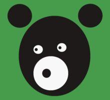 Black Bear One Piece - Short Sleeve