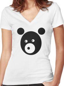 Black Bear Women's Fitted V-Neck T-Shirt
